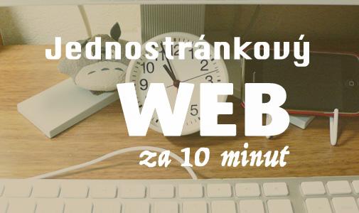 Jednostránkový web za 10 minut