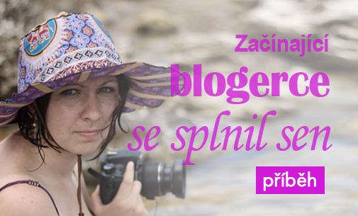 Začínající blogerce Lence se splnil sen