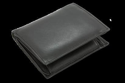 Černá pánská kožená peněženka - dokladovka
