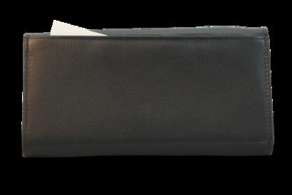 Kožená číšnická peněženka se zipovými kapsami na mince