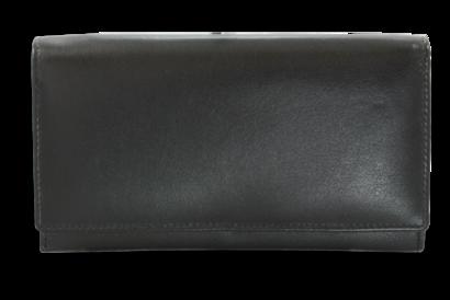 Černá dámská kožená psaníčková peněženka s klopnou