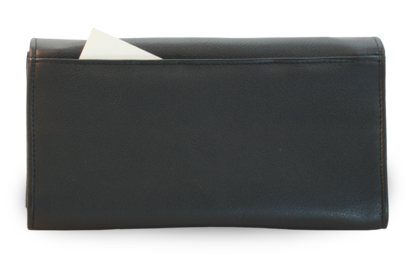 Kožená číšnická peněženka s kapsami na kreditní karty