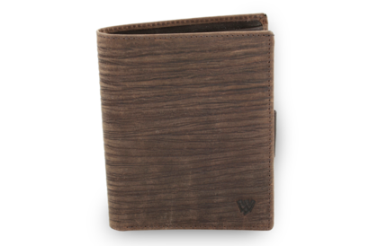 Tmavě hnědá pánská kožená peněženka ve stylu BAMBOO