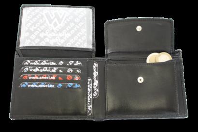 Černá kožená pánská peněženka