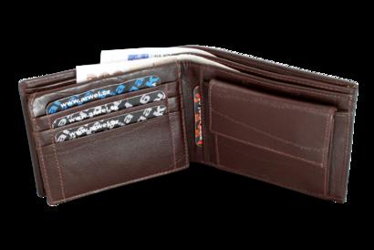 Tmavě hnědá pánská kožená peněženka
