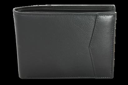 Černá pánská kožená peněženka s vnitřní zápinkou