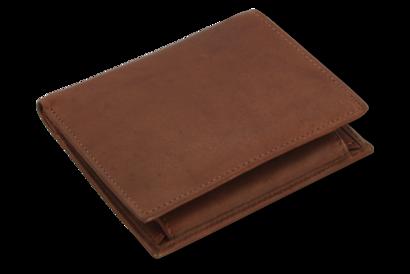 Tmavě hnědá pánská kožená peněženka - dokladovka