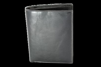 Černá pánská kožená peněženka a dokladovka