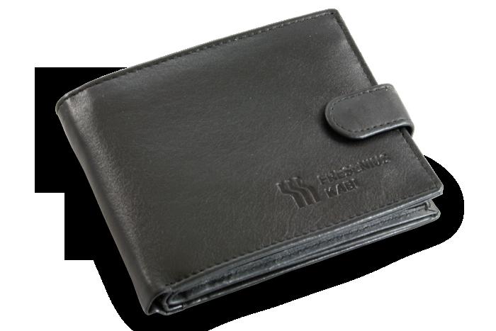 Reklamní peněženka s vyraženým logem firmy