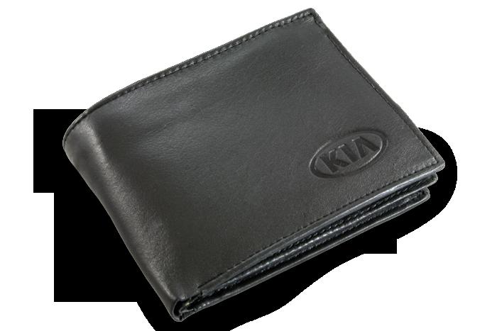 Vyražené logo na peněženku