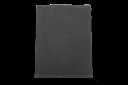 Černá kožená dokladovka