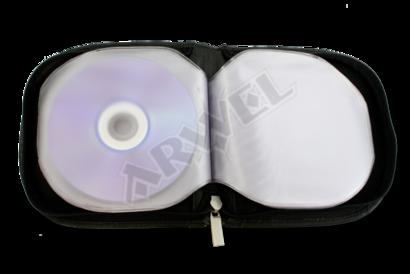 Černý kožený zipový obal na CD