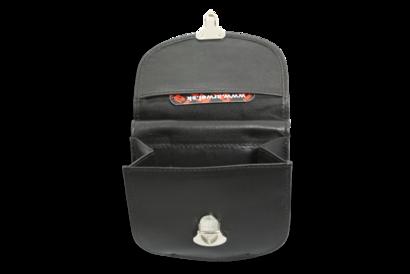 Černá malá dámská kožená peněženka se zámečkem