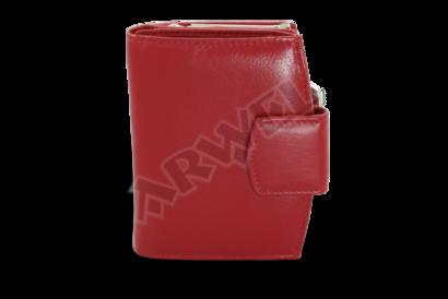 Červená dámská kožená rámová peněženka se zápinkou