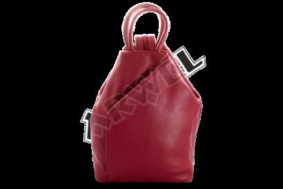 Burgundy kožený batůžek
