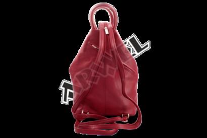 Dámský kožený batůžek burgundy