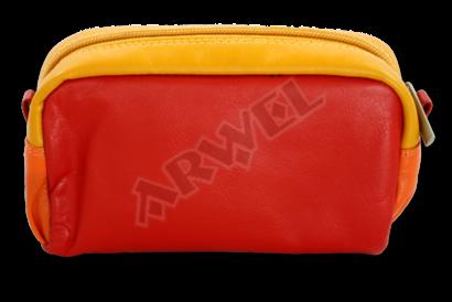 Multičervená dámská kožená etue