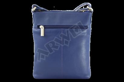 Modrá kožená zipová minikabelka