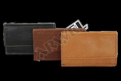 Fialová dámská kožená mini peněženka