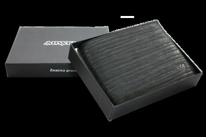 Černá pánská kožená peněženka ve stylu BAMBOO
