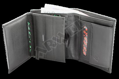 Černá pánská kožená peněženka s vnitřní zápinkou určená pro policii
