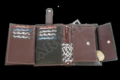Pánská kožená peněženka se zajištěním dokladů