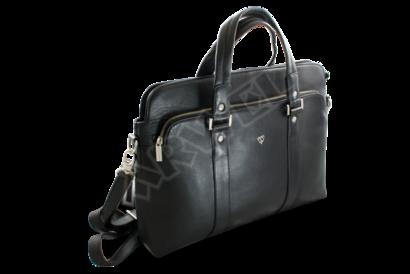 Černá kožená business taška na notebook
