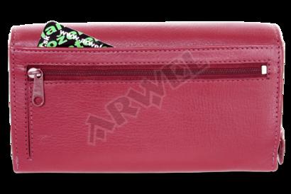 Burgundy dámská psaníčková kožená peněženka s klopnou