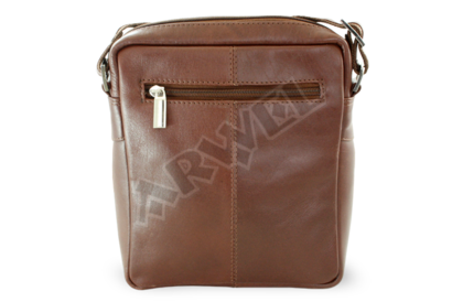 Malý hnědý kožený crossbag