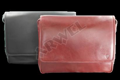Dámská červená kožená taška na notebook