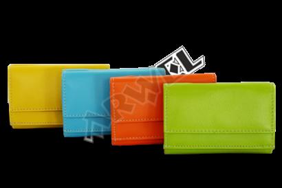 Žlutá dámská kožená mini peněženka