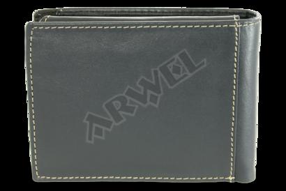 Modrá pánská kožená peněženka