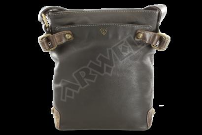 Černá kožená zipová kabelka