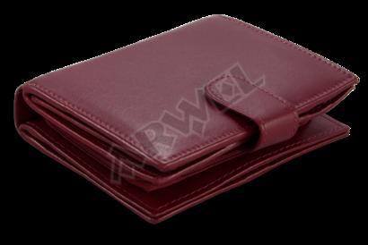 Burgundy dámská kožená peněženka se zápinkou