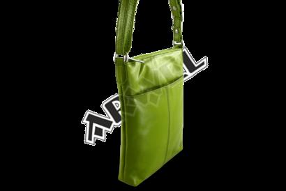 Zelená kožená zipová minikabelka