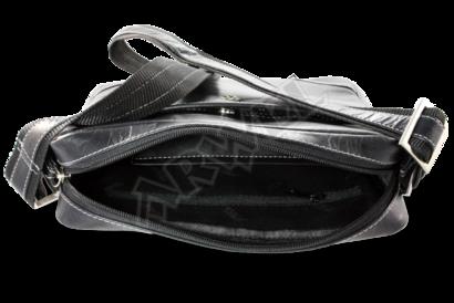 Černý kožený pánský crossbag