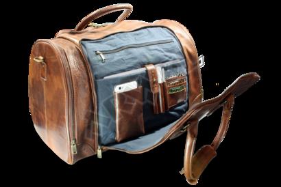 Luxusní cestovní kožená taška s kapsou na notebook