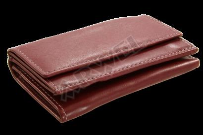 Burgundy dámská kožená mini peněženka