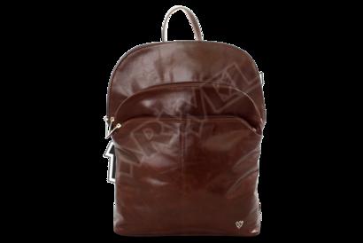 Hnědý kožený batoh