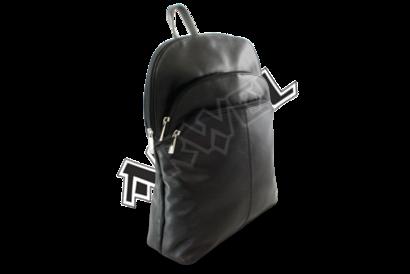Černý kožený batoh