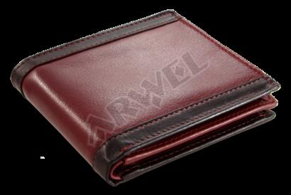 Červeno-černá pánská kožená peněženka