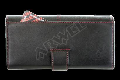 Černo-červená dámská psaníčková peněženka se zápinkou