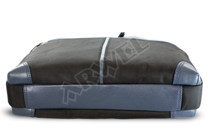 Černo-modrá business taška na notebook
