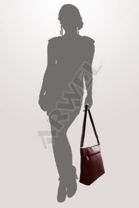 Burgundy-černá kožená zipová kabelka