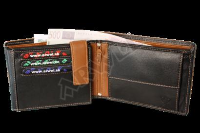 Černohnědá pánská kožená peněženka