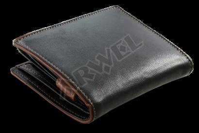 Černohnědá pánská peněženka s vnitřní zápinkou