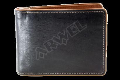 Černohnědá pánská kožená peněženka - dolarovka
