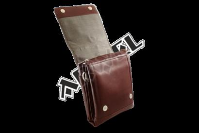 Velký hnědý kožený pánský crossbag