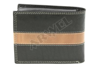 Černá pánská kožená peněženka