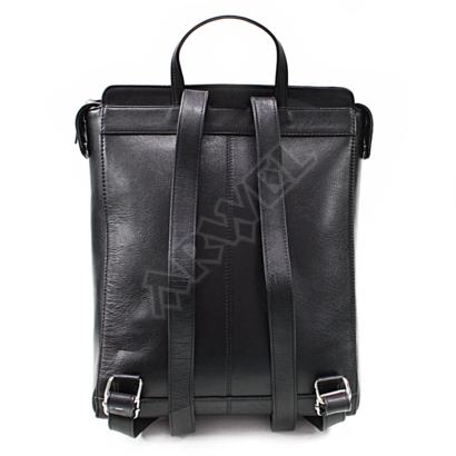 Černý městský kožený batoh